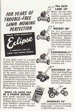 1950 Eclipse Lawn Mowers: Years of Trouble Free Lawn Mowing Print Ad (18626)