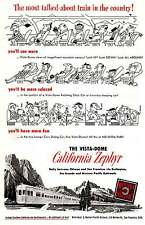 1951 California Zephyr: Most Talked About Train Print Ad (7701)