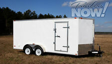 7x16 Enclosed Trailer Cargo V-Nose 18 New Utility 14 Motorcycle 8 Lawn 2017