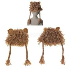 Handmade Children Kids Knitted Wigs Caps Beanie Bonnet Lion Hat Cosplay Costume