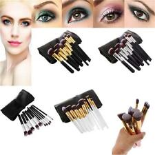 10pcs Foundation Blending Brush Kabuki Makeup Set Tool Cosmetics Brushes + Pouch