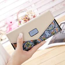 New Women Print Clutch Zip Closure Long Wallet Credit Card Holder Bags