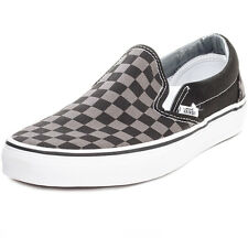Vans Classic Check Mens Slip On Black Grey New Shoes