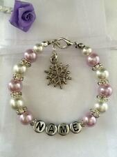 Personalised Girls Charm Bracelet Christmas Gift Stocking Filler - Any Name