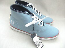NEW FRED PERRY WOMENS B3233W SPRIGENS CLAY TWISTED CHAMBRAY TRAINERS BOOTS