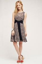 NEW Anthropologie Windswept Lace Dress by Floreat, Navy Motif, Size 4
