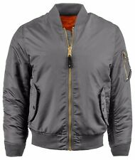 MENS FLIGHT BOMBER JACKET Reversible Military Air Force MA-1 Tactical Outdoor