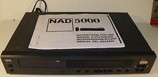 NAD 5000 MONITOR SERIES CD PLAYER AUDIOPHILE QUALITY TESTED AND WORKS GREAT!