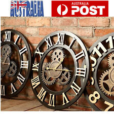 Large Wall Clock Handmade Vintage Rustic 80CM Vintage Clock for Home Decor