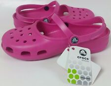 CROCS CLASSIC MARY JANE PINK FUCHSIA CASUAL SHOES SLIP ONS CLOGS SANDALS