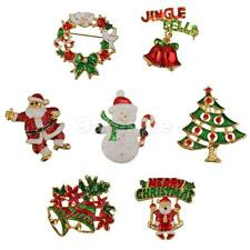 Xmas Brooch Pins Decoration for Xmas Christmas Party Favor Choose Styles