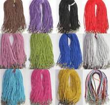 Hot Leather Braid Rope Hemp Cord Lobster Clasp Chain Necklace Jewelry 46CM