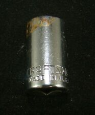 """Craftsman 11/32"""" Socket 6 Point 1/4"""" Drive 43496 -V- Made in USA  Free S & H"""