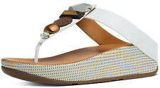 FitFlop A42-194 Women's Urban White Jeweley Thong Sandals - New With Box