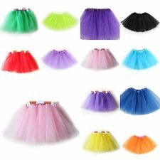 Girls Kid 3 Layer Tutu Ballet Dance Skirt Dress Pettiskirt Performance Clothes