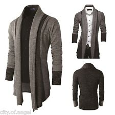 Stylish Mens Knitted Blazer Cardigan Jacket Slim Long Sleeve Casual Sweater Coat