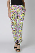 Anthropologie Petunia Crops Sz 4, Floral Print Crepe Pants Trousers By LeifNotes