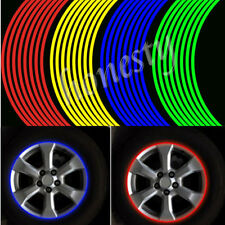 "18"" Colorful Motorcycle Car Wheel Rim Tape Decal Stripes Stickers Reflective"