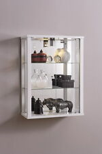 RETAIL OR DOMESTIC USE LOCKABLE DOUBLE WALLMOUNTED GLASS DISPLAY CABINETS