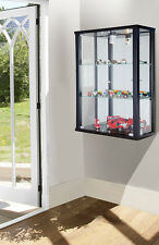 LOCKABLE DOUBLE RETAIL OR DOMESTIC USE WALLMOUNTED GLASS DISPLAY CABS