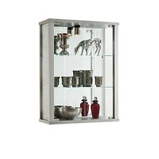 RETAIL USE LOCKABLE DOUBLE WALLMOUNTED GLASS DISPLAY CABINETS