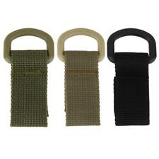 2Pcs Carabiner Nylon MOLLE Webbing Lock Outdoor Buckle Hanging Belt Strap Hook
