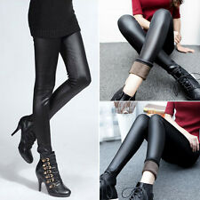 Sexy Womens Elastic PU Leather Pants Slim Leggings Tight Pants Fashion Trousers