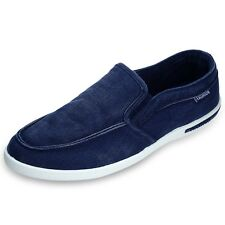New Summer Canvas Breathable Slip On Sneakers Loafers Mens Leisure Shoes ICA