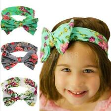 Kids Baby Girls Toddler Cotton Bowknot Headband Hair Band Headwear Accessories