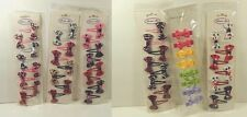 Girl's Hair Barrettes Lot Of 3 Packages Assorted Color Bows Hair Clips