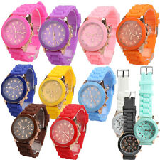 Girl Boy Child Jelly Wrist Watch Quartz Silicon Watchband Round Dial Fation