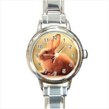 Cute Bunny Rabbit Italian Charm Watch (Battery Included)