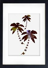 Watercolour Print of Original Painting Red Palm Trees Art - Illustration 9Wc
