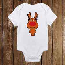 Rudolph Reindeer Red Nose Onesies - Baby First Christmas Outfit - Holiday Gifts