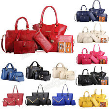 3/6Pc Set Women Lady Handbag Shoulder Crossbody Bag Leather Tote Messenger lot