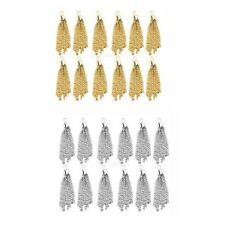 12pcs Tassel Pendents Findings Jewelry Craft Making Necklace Bracelet Charms DIY