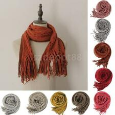 Fashion Womens Winter Warm Solid Long Shawl Wrap Scarf