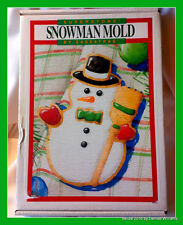 "Extra Large 12"" Snowman Cookie Mold, Wax or Paper Mold by Sassafras Superstone"