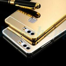 Luxury Mirror PC Back Case Aluminum Metal Bumper For Huawei OPPO  Coolpad