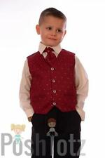 Boys Suits 4 piece Wine Formal Suit Wedding Pageboy suits (0-3mths - 15yrs)
