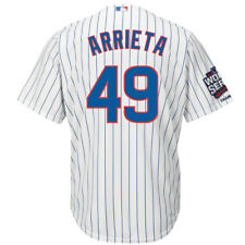 Chicago Cubs Jake Arrieta 2016 World Series Champions Team Logo Patch Jersey