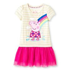 NEW Toddler Girls' Peppa Pig Short Sleeve Dress - Multicolored  Size 4T