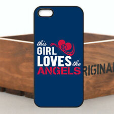 Hot Chic Girl Love MLB Los Angeles Angels Cover Case For iPhone & Samsung Series