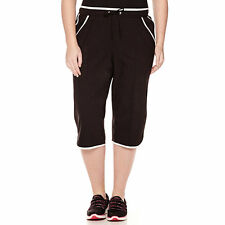 Made For Life Piped Curve-Leg Capris Plus Size 3X New Black/White Msrp $36