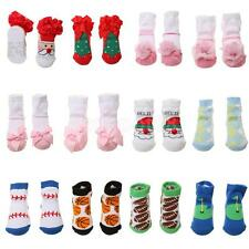 Baby Newborn Toddler Infant Soft Flower Lace Socks Boy Girl XMAS Warm Booties