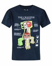 Official Minecraft Creeper Anatomy Boy's Navy T-Shirt
