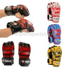 Leather Grappling MMA Gloves UFC Cage Fighting Sparring Grappling Training Mitts