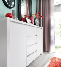 Kaspian Sideboard Dresser Cabinet & Drawers in White or White Gloss NEW