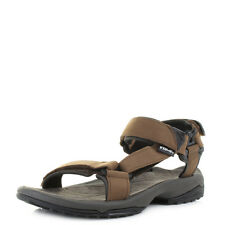 Mens Teva Terra Fi Lite Leather Brown Active Walking Summer Sandals Shu Size
