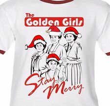 THE GOLDEN GIRLS STAY MERRY -PREMIUM T-Shirt/Ringer/Tank Top- holiday CHRISTMAS